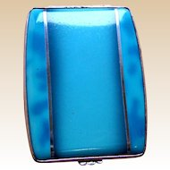 Gwenda miniature powder compact Art Deco enamel tap flap