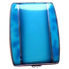 Gwenda miniature powder compact Art Deco enamel tap flap