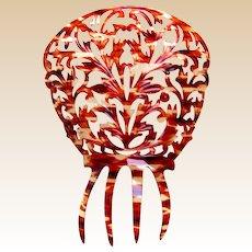 Spanish mantilla hair comb faux tortoiseshell hair accessory