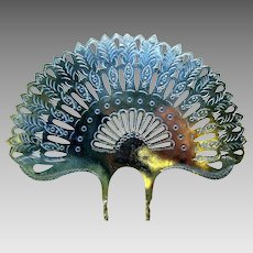 Victorian hair comb pieced metal Spanish style hair accessory