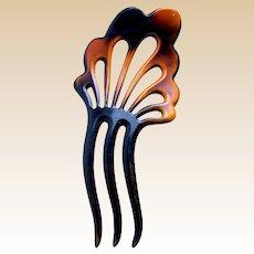 Art Deco celluloid hair comb Spanish hair accessory