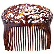 Victorian hair comb faux tortoiseshell hair accessory