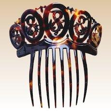 Victorian faux tortoiseshell Spanish mantilla style hair accessory