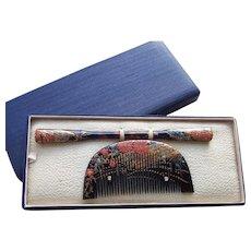 Japanese Kanzashi hair accessories boxed set 2 geisha hair comb hair pin