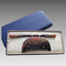 Japanese Kanzashi hair accessories boxed set 2 geisha hair comb hair pin