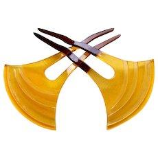 2 Japanese Kanzashi hair combs Geisha hair accessories