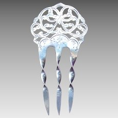 Art Nouveau English sterling silver hair comb 1904/5 hair ornament
