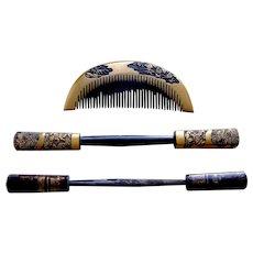 3 Geisha Japanese hair accessories Kanzashi hair accessories hair comb