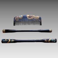 3 Japanese gaisha hair ornaments Kanzashi hair accessories hair comb