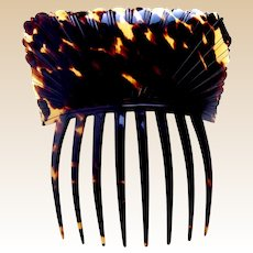 Georgian pressed tortoiseshell hair comb Spanish mantilla style hair accessory
