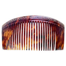 Late Victorian back comb with gold pique hair accessory - Red Tag Sale Item
