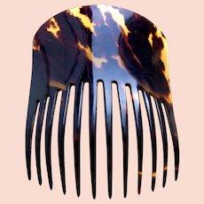 Victorian hair comb faux tortoiseshell Spanish mantilla style hair ornament