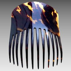 Victorian hair comb faux tortoiseshell Spanish mantilla style hair ornament