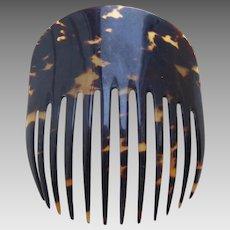 Victorian faux tortoiseshell Spanish mantilla style hair comb hair accessory