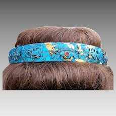Magnificent Chinese kingfisher feather tiara hair accessory headdress