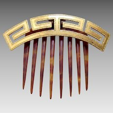 Antique hair comb Greek key design hair accessory tiara