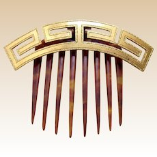 Antique hair comb Greek key design hair accessory tiara