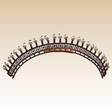Regency pearl tiara hair comb hair ornament