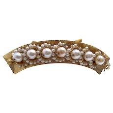 Victorian pearl hair comb summer bridal wedding hair accessory