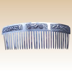 Chinese silver hair comb hair ornament