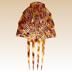 Art Deco faux tortoiseshell hair comb Spanish mantilla style headdress