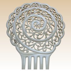 Art Deco French ivory hair comb Spanish mantilla style hair accessory