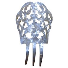 Spanish hair comb mother of pearl effect bridal summer wedding hair accessory