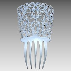 Mid century Spanish hair comb bridal winter wedding hair ornament