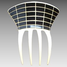 Two toned Art Deco French ivory hair comb, hair ornament