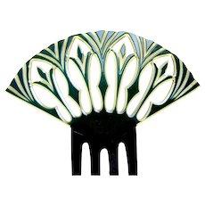 Egyptian Revival hair comb, Spanish style Art Deco hair accessory