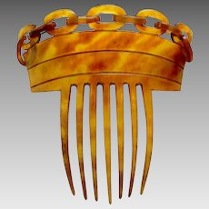 Victorian steer horn hair comb cable link Spanish mantilla style hair accessory