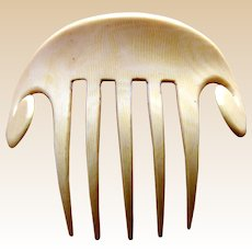 French ivory hair comb Art Deco hair ornament