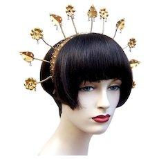 Vintage tiara crown Indonesian bridal headdress hair ornament (AAB)