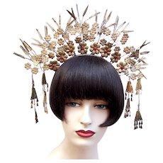 Wedding tiara crown traditional Indonesian bridal headdress (AAD)
