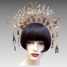 Wedding tiara crown traditional Indonesian bridal headdress (AAD)