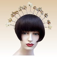 Traditional Indonesian tiara crown headdress  tribal fusion belly dance (AAE)