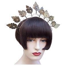 Vintage rustic summer wedding crown or tiara Indonesian traditional headdress (AAF)