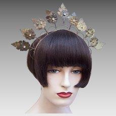 Vintage rustic wedding crown or tiara Indonesian traditional headdress (AAF)