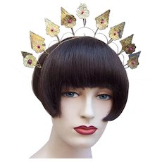 Traditional Indonesian bridal headdress crown or tiara summer rustic wedding (AAH)