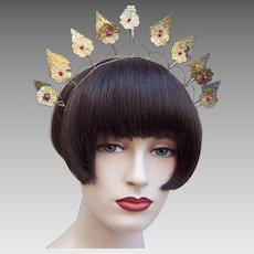 Traditional Indonesian bridal headdress crown or tiara rustic wedding (AAH)