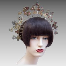 Indonesian rustic summer wedding crown traditional tiara bridal hair ornament