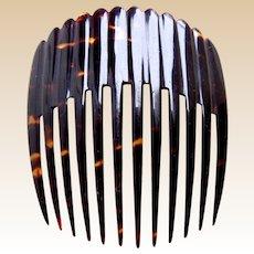 Victorian Spanish mantilla style natural tortoiseshell hair comb ornament