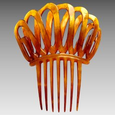 Spanish style hair comb Victorian steer horn loops design hair accessory