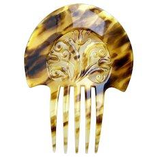 Auguste Bonaz signed hair comb Art Deco hair ornament