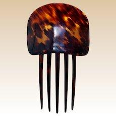 Classic Spanish mantilla style hair comb celluloid faux tortoiseshell hair ornament
