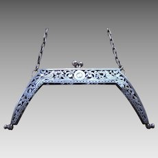 Art Nouveau silver purse frame birds design bag frame