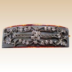 Antique hair accessory rhinestone hair barrette ornament