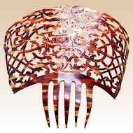 Spanish mantilla comb peineta celluloid faux tortoiseshell mid century headdress