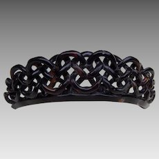 Victorian mourning hair comb tiara style hair accessory