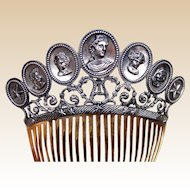 Regency Berlin Iron and steel hair comb hair ornament